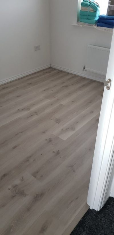 Laminate flooring for spare bedroom