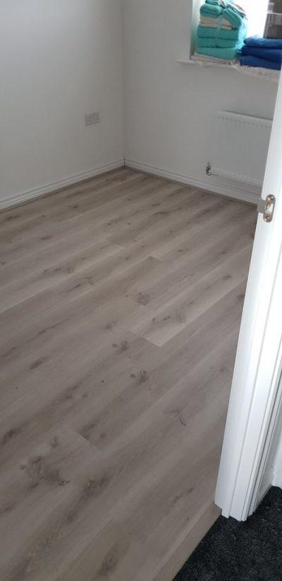 Laminate flooring for spare bedroom