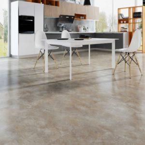 Stone vinyl tile flooring