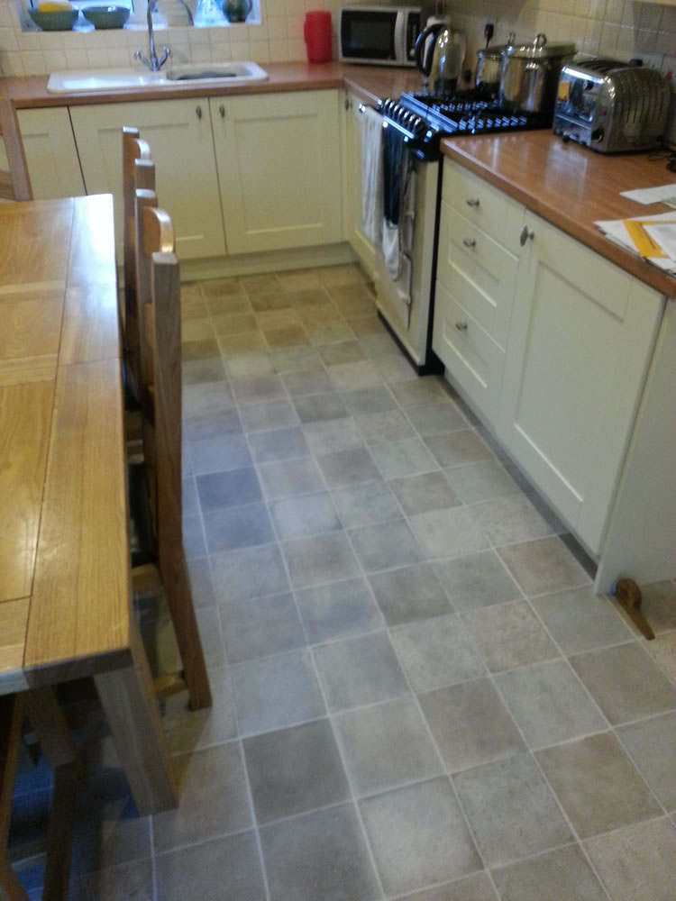 Ceramic Effect Vinyl Kitchen tiles in Bramhall, Stockport